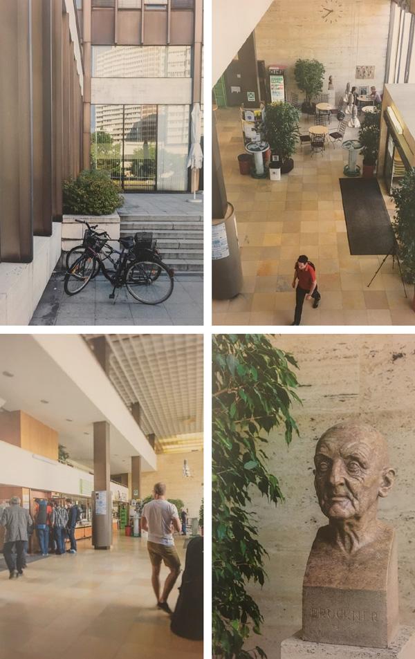 Impressionen von der alten Anton Bruckner Privatuniversität an der Wildberg-Straße in Linz