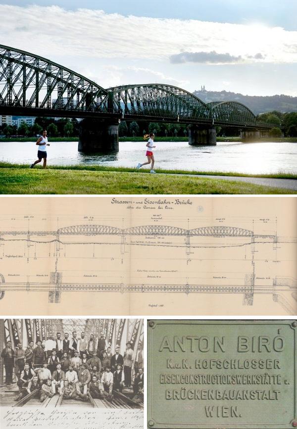 Impressionen von der Eisenbahnbrücke in Linz